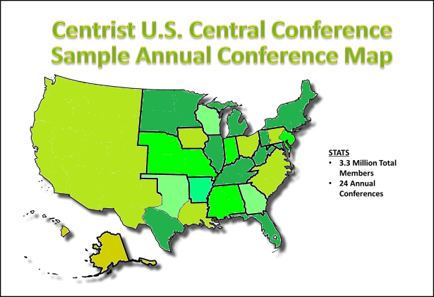 Centrist Central Conference Map